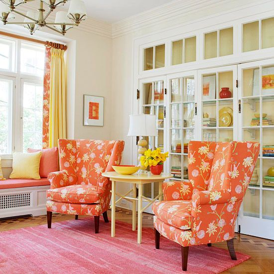 Color Inspiration: Decorating With Pink And Orange. Beautiful!  Entirelyeventfulday.com #decorating