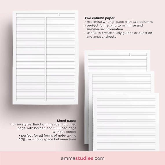 Student Note Taking Template Printable Pack  Cornell Lecture