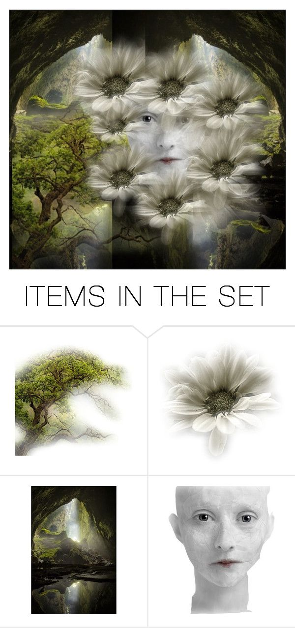 """""""Gathering Daisies"""" by lvoth ❤ liked on Polyvore featuring art"""