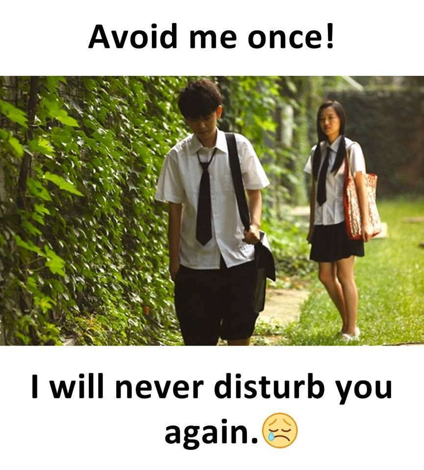 Avoid Me Once I Will Never Disturb You Again Sadness Quotes
