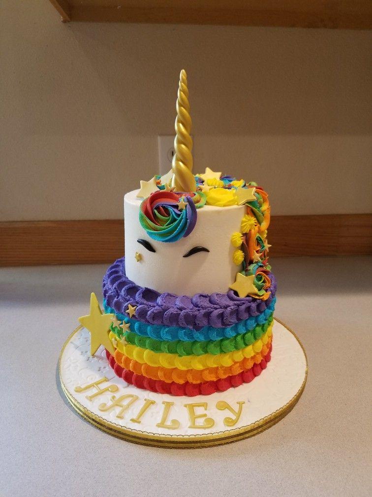 Rainbow Unicorn Cake With Images Rainbow Unicorn Cake