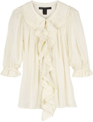 f8214dd26a8412 Marc by Marc Jacobs Whirlwind silk blouse - ShopStyle Button Front ...