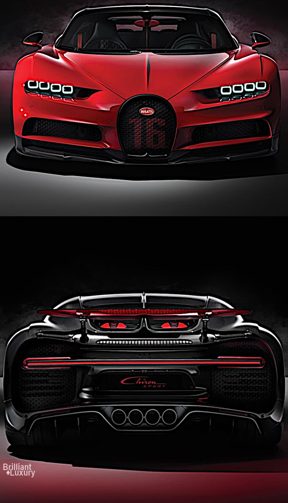 Brilliant LuxuryBugatti Chiron Sport 110 Ans special edition revealed