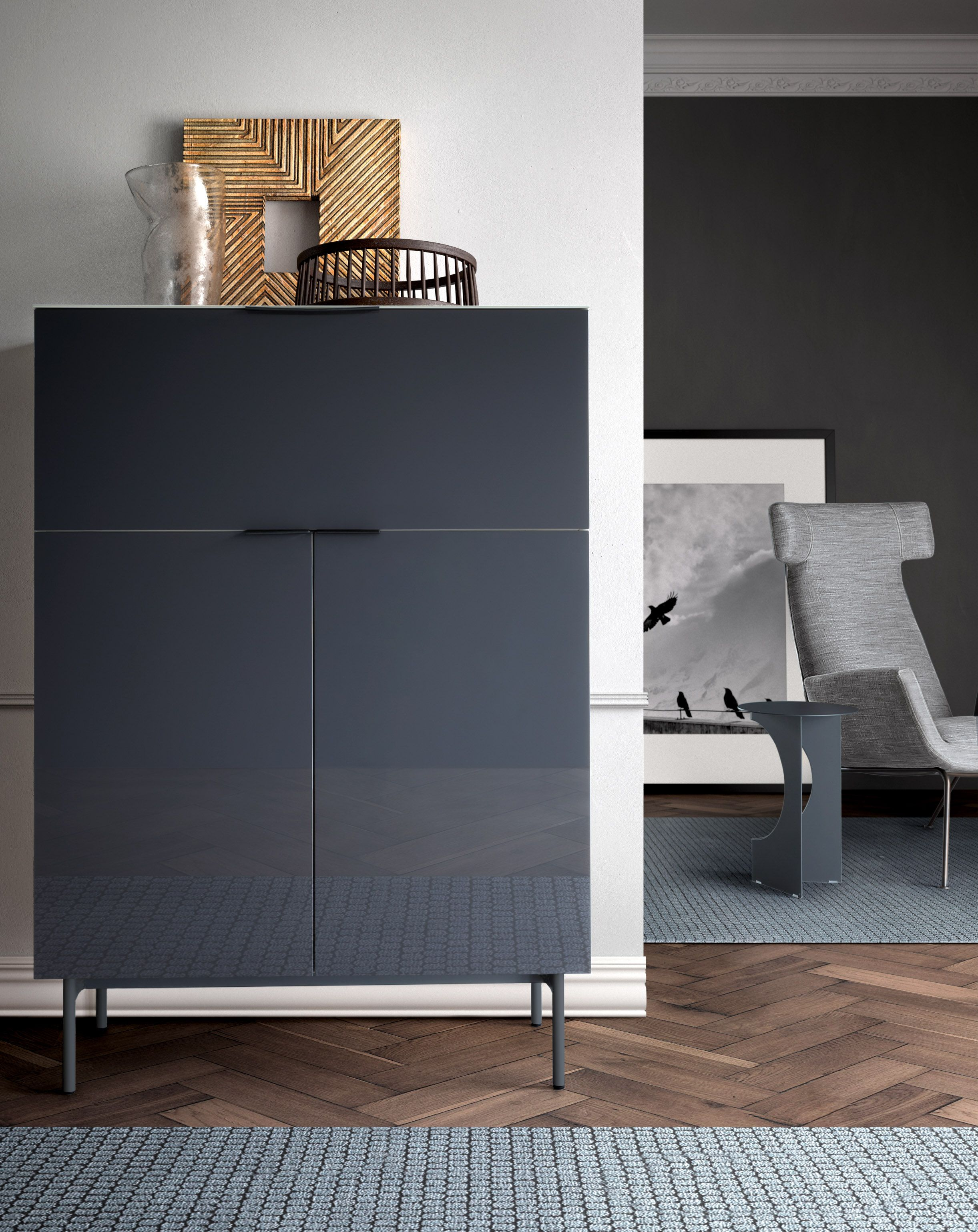 Brema sideboard by Pianca from Mezai- comes in long low white version.  Black BeltSideboardLiving RoomHigh ...