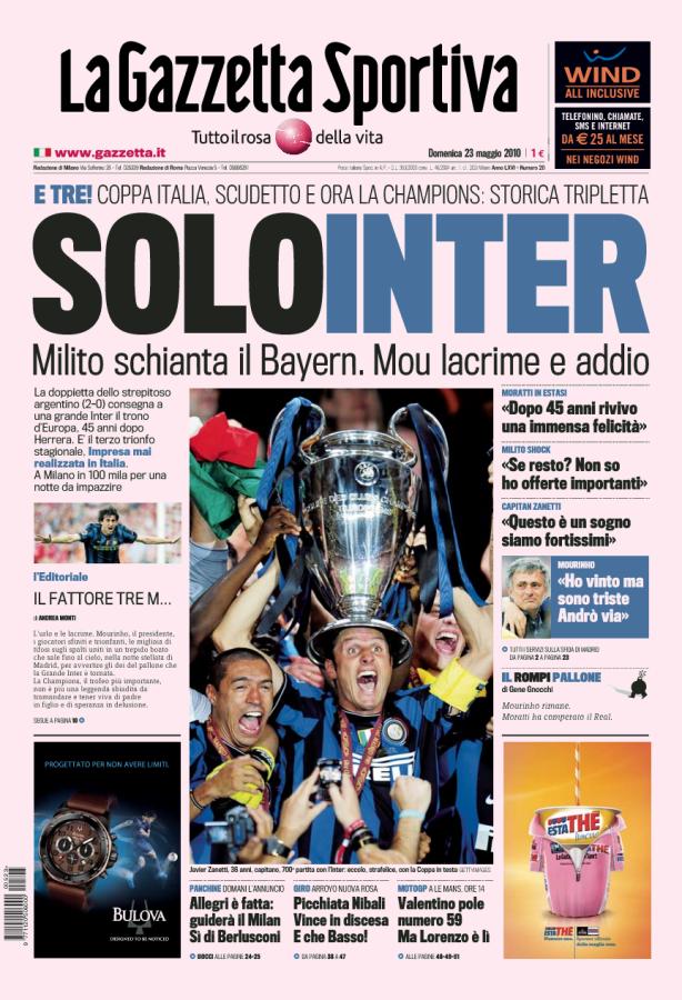 Prima Pagina Corriere dello Sport 24/04/2017 Sport