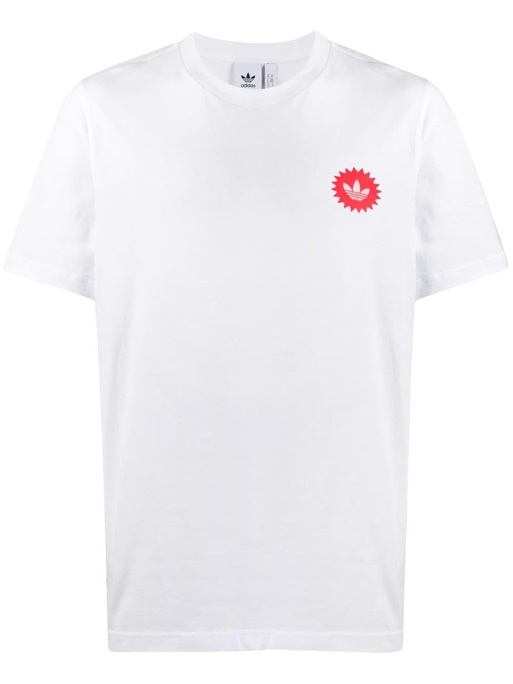 Adidas Originals Power Drink T In White Modesens White Adidas Shirts Adidas