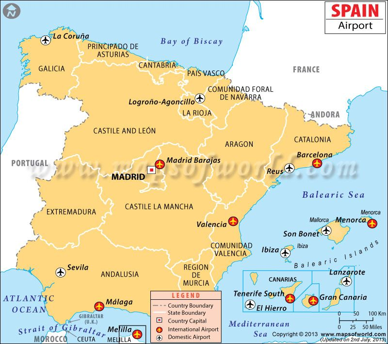 Spain Airports Map Maps Pinterest Spain Spain Madrid And - Portugal map with airports
