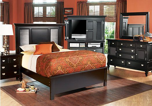 Belmar Black 5 Pc Queen Bedroom Bedroom Sets Bedroom Furniture