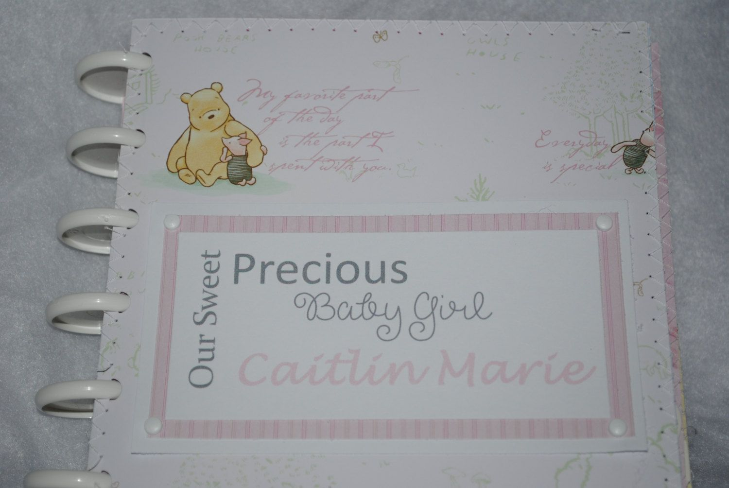 Winnie the Pooh Photo Album for Girl, Classic Winnie the Pooh Album for Girl by DreaminOfWarmPlaces on Etsy