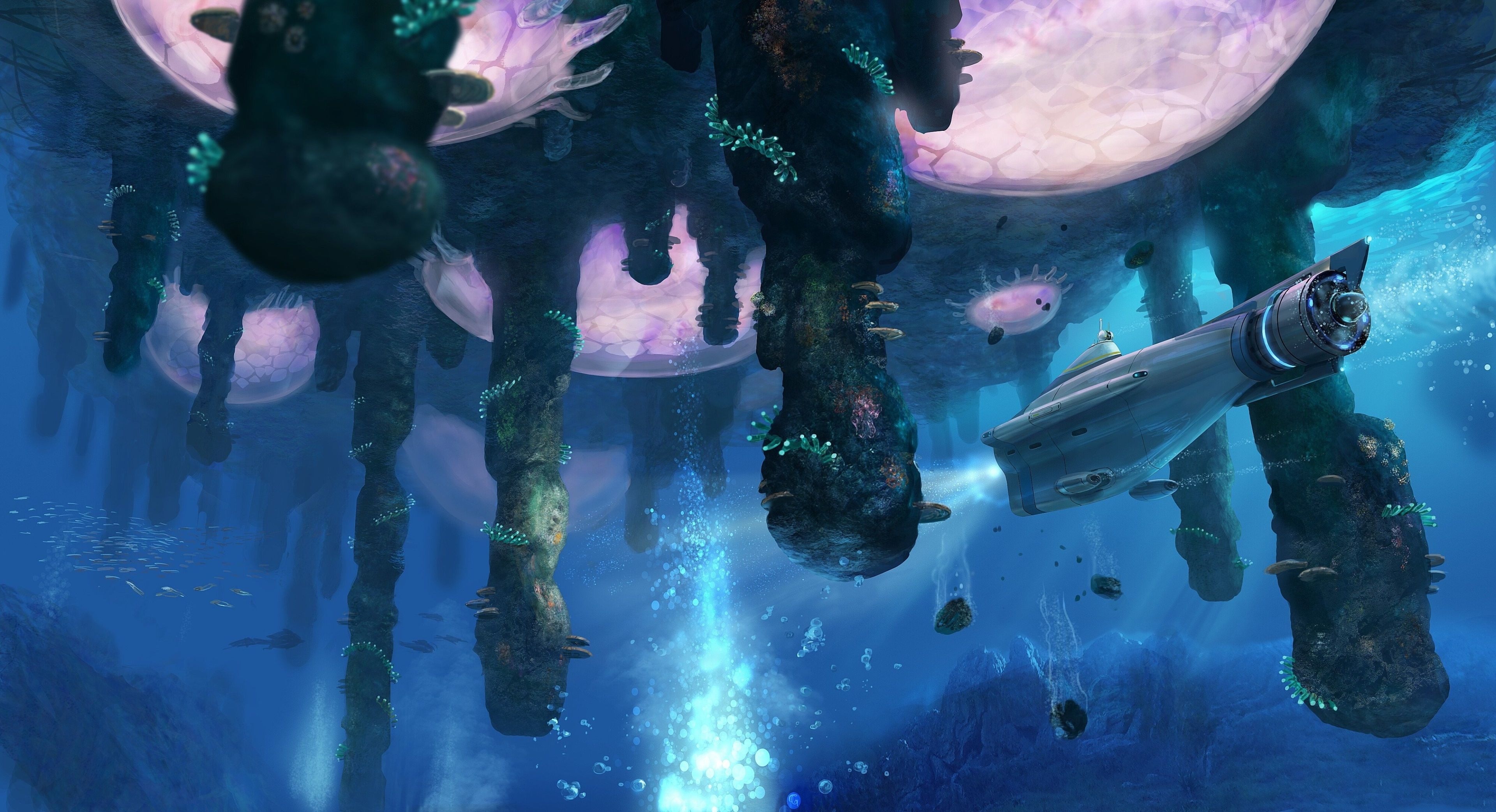 3840x2085 Subnautica 4k Hd Picture Under The Water In 2019