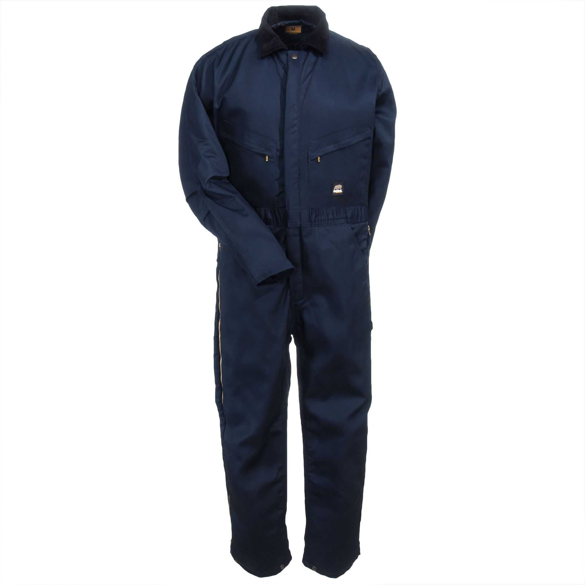berne apparel men s i417 nv navy blue insulated quilt on work coveralls id=61140