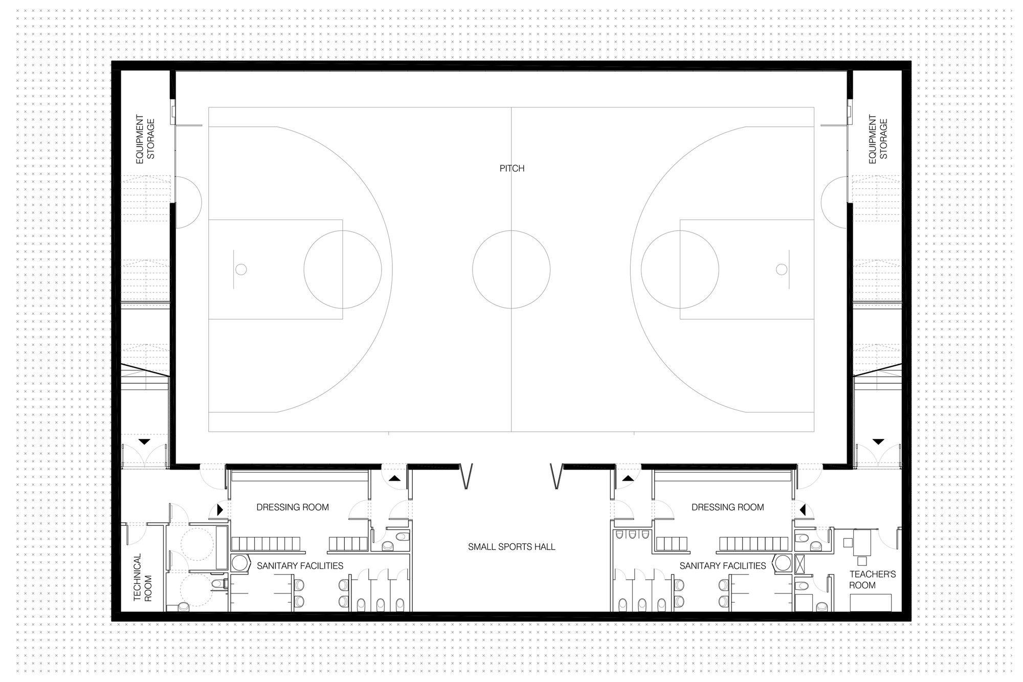 Gallery Of Matchbox Elementary School Sports Hall Jovan Mitrovic 13 Sport Hall Elementary Schools Multipurpose Hall
