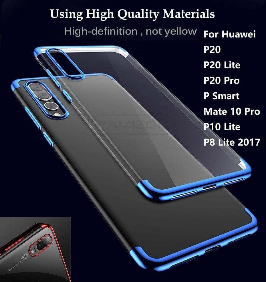 half off bbefd 6c464 Stylish Case Cover For Huawei P20 P30Pro Shockproof Clear Rubber ...
