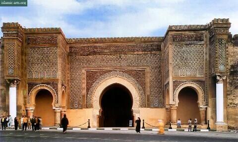 bab-al mansur in Meknes.