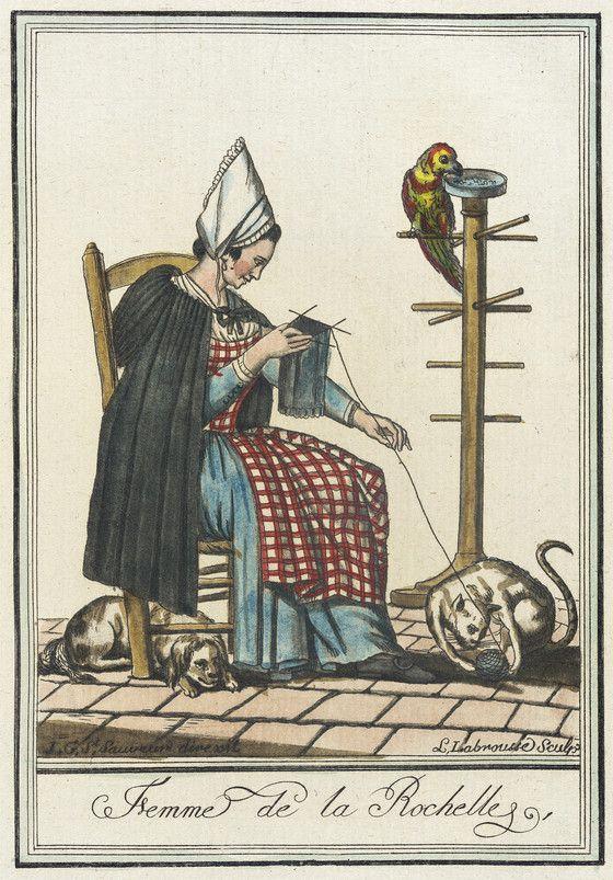 Costumes de Différent Pays, 'Femme de la Rochelle' | LACMA Collections