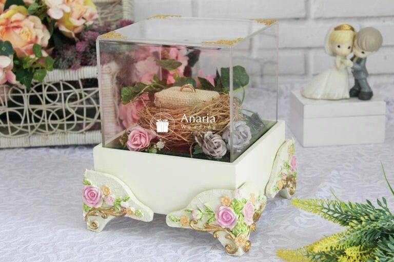 Kotak Cincin Pernikahan Lamaran Tempat Perhiasan Custom Vintage Dengan Floral Yang Elegan Kotakcincin