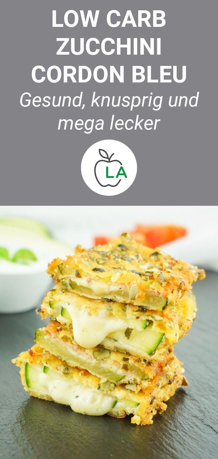 Zucchini Cordon Bleu - Vegetarisches oder klassisches Low Carb Rezept #lowcarbveggies