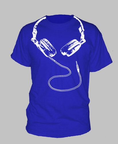5a0fa577f DJ HEADPHONES TSHIRT hip hop dance house techno by HotterTopic ...