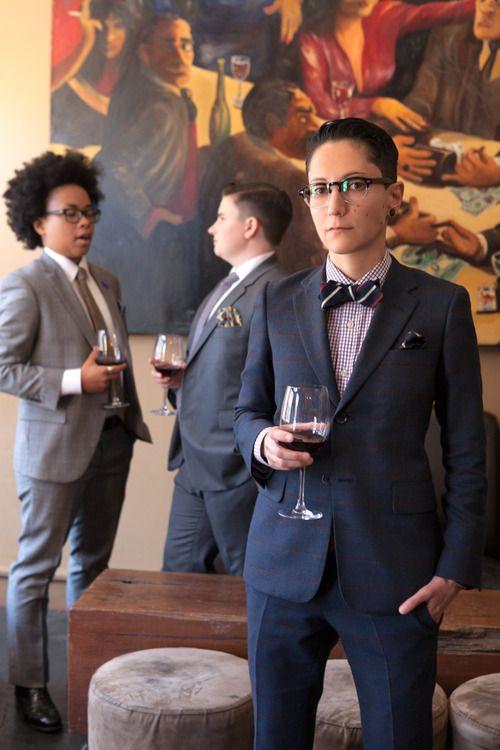 Lesbians in suits