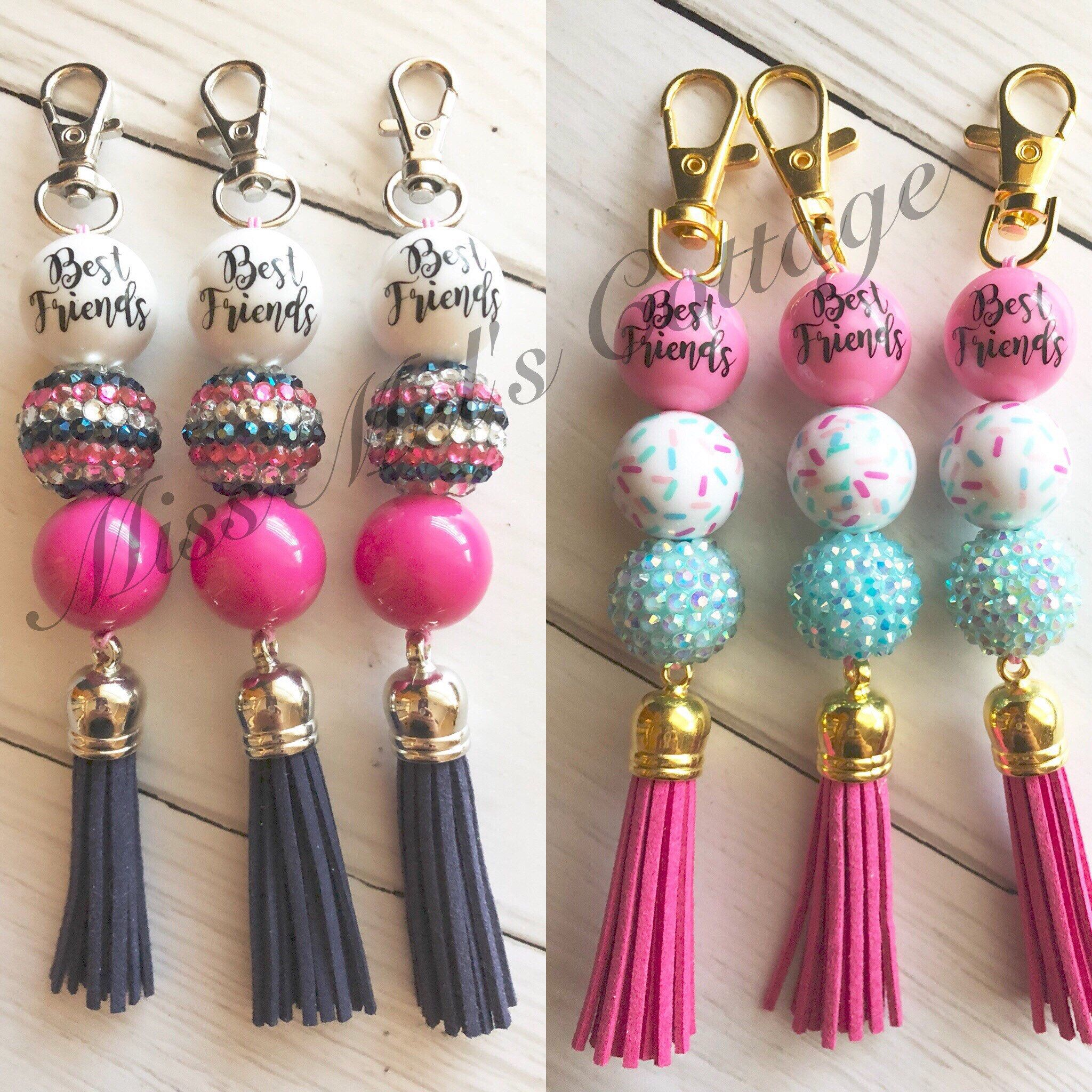Born to Dance beaded keychains