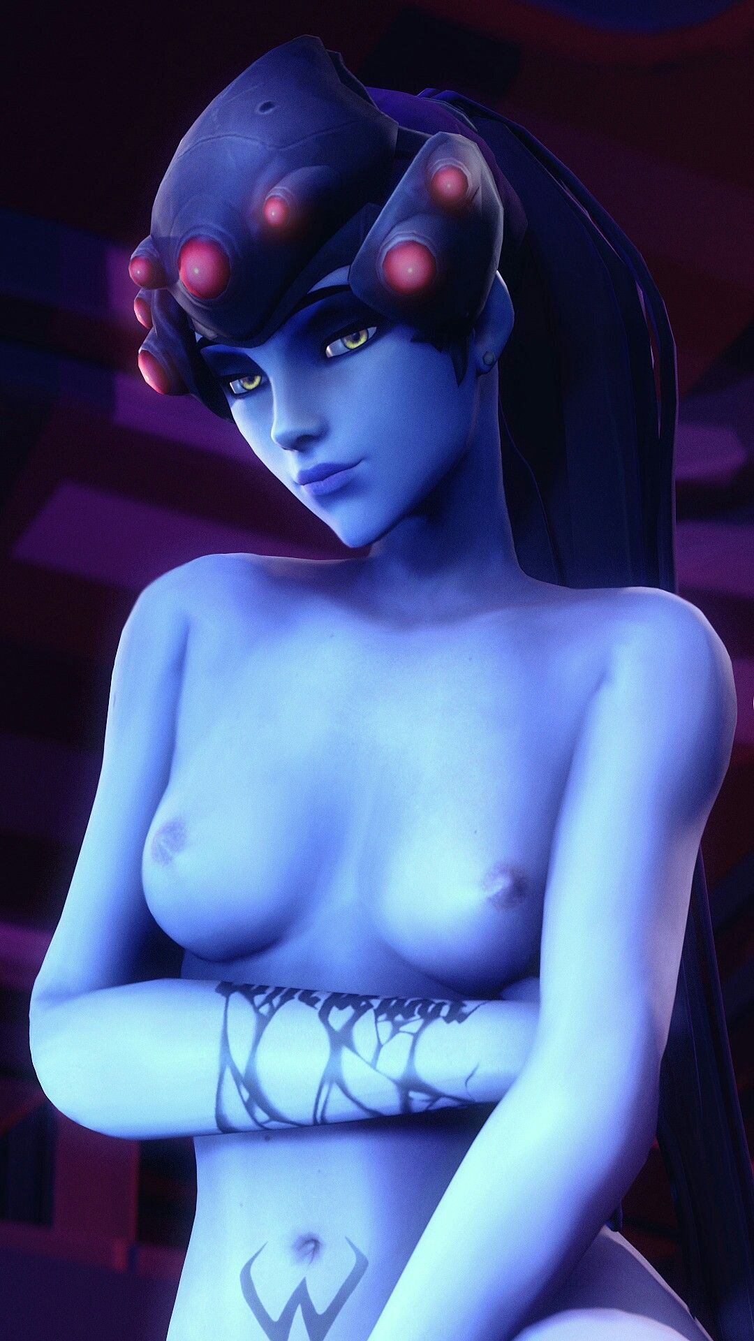 the blue skin of widowmaker is amazing | overwatch hentai
