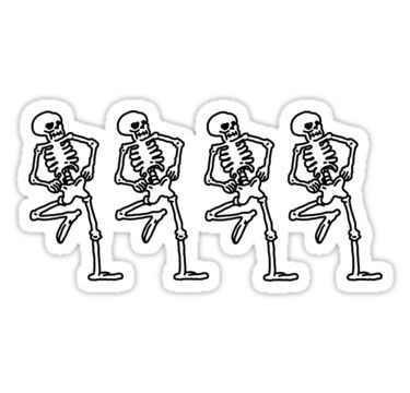 Spooky Scary Skeletons Sticker Skeleton Sticker Spooky Stickers Halloween Stickers