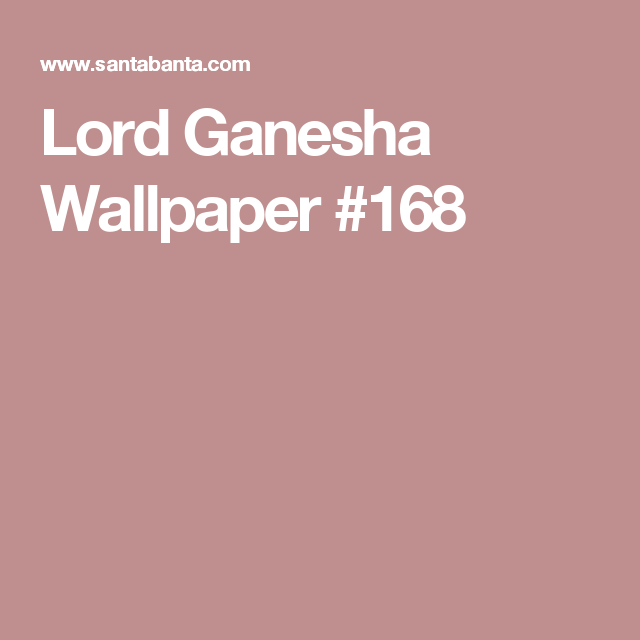 Lord Ganesha Wallpaper #168 (With Images)