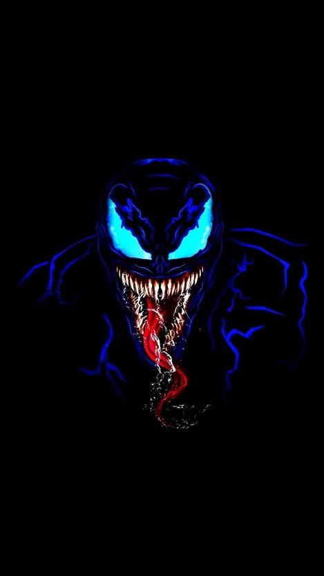 Venom in Dark iPhone Wallpaper Free – GetintoPik #darkiphonewallpaper