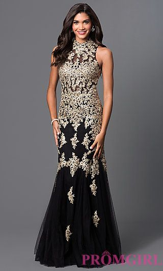 Long Lace Embroidered Formal Dress by Elizabeth