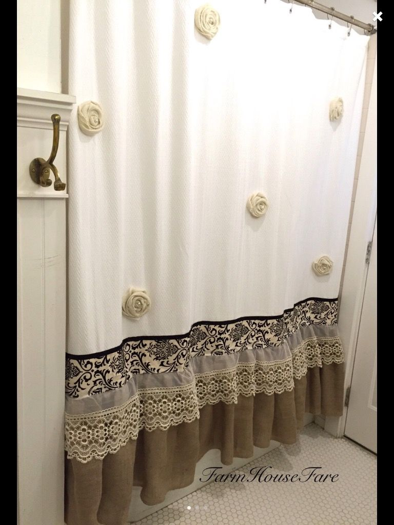 Pin de mandi monson mrocek en bathroom pinterest for Accesorios para cortinas de bano