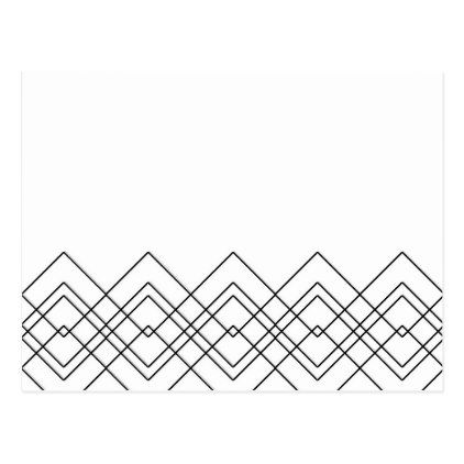 abstract geometric pattern black and white postcard christmas
