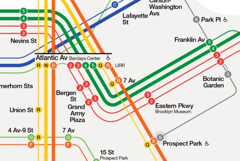 Prospect Park Subway Map.Nyc Subway Map Reimagined To Be More Tourist Friendly Train Map