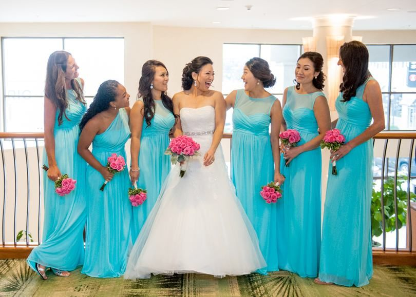 Colorful Wedding On The Green At Raleigh Country Club Turquoise