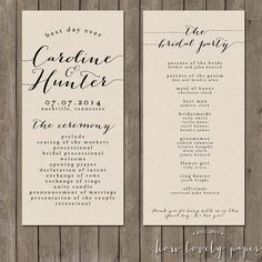this listing is for a printable 4x9 double sided program for you to