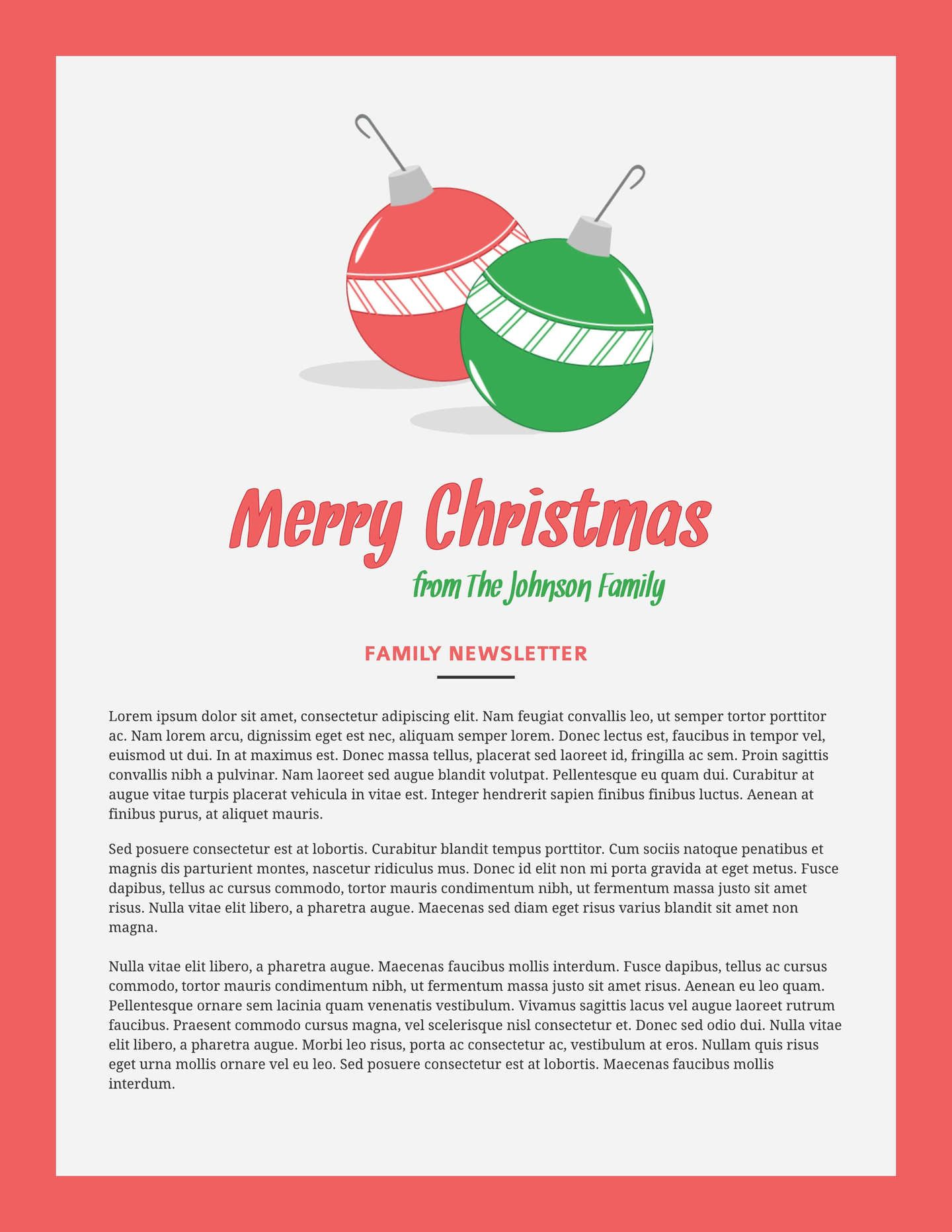 Print and Win Holiday Sweepstakes Newsletter templates