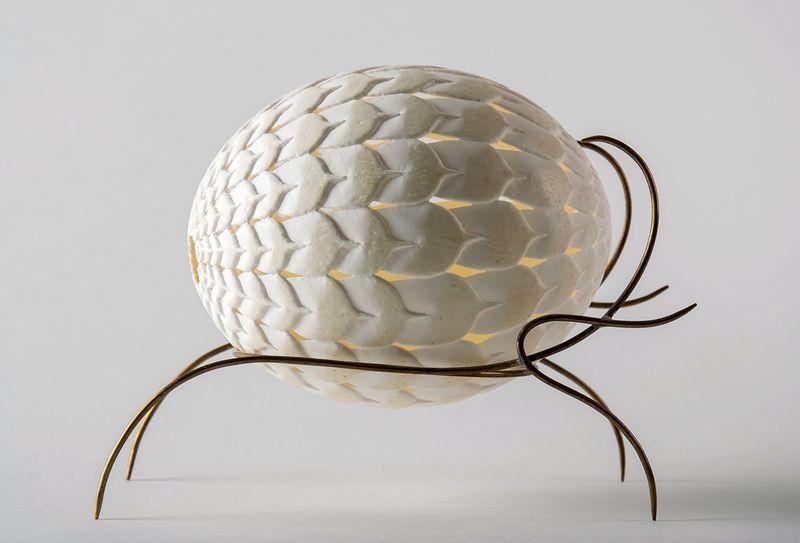Lampe œuf D Autruche Oeuf De Dragon Fait Main Luminaires Par