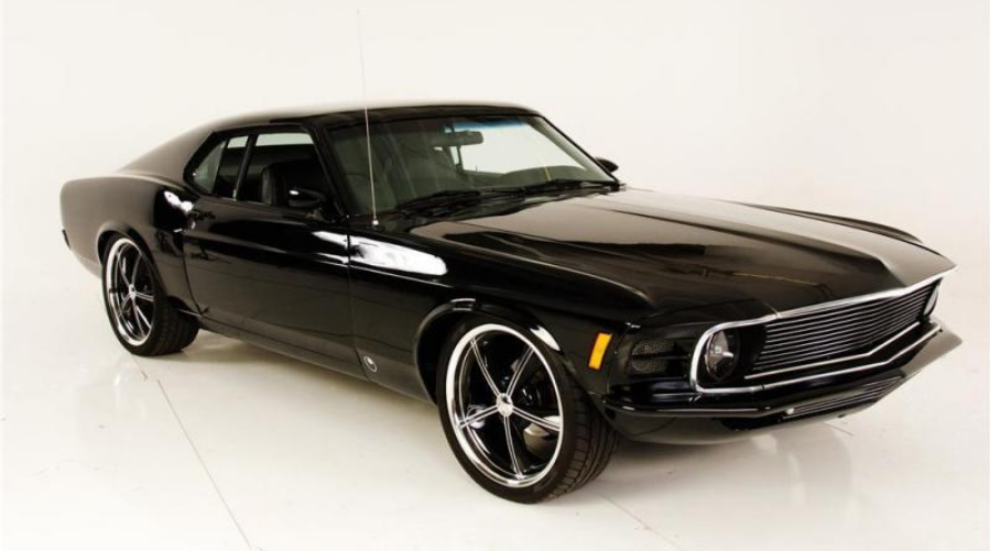 Black Muscle Car With Racing Stripes Musclecars Loveonlinetoday