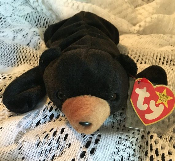 6d0317e2f78 Vintage RARE Ty Beanie Baby Blackie the Bear with by JewelzVintage ...