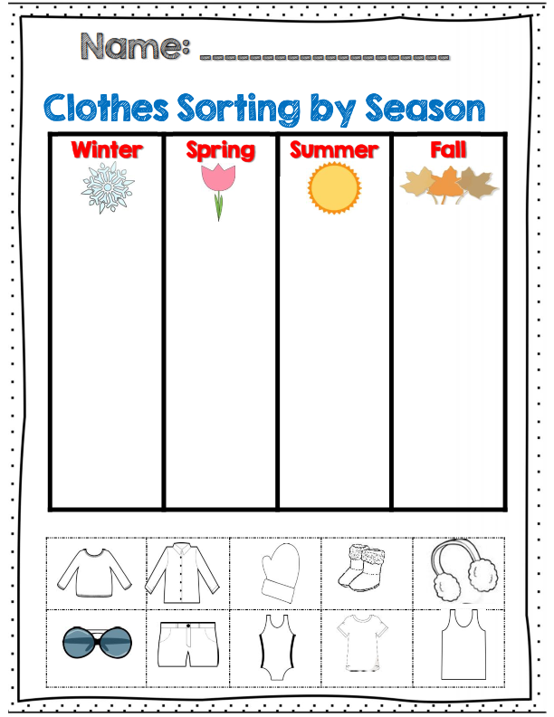 Weather and Seasons Unit (60 pages with Assessments!) | Preschool weather,  Seasons lessons, Seasons activities