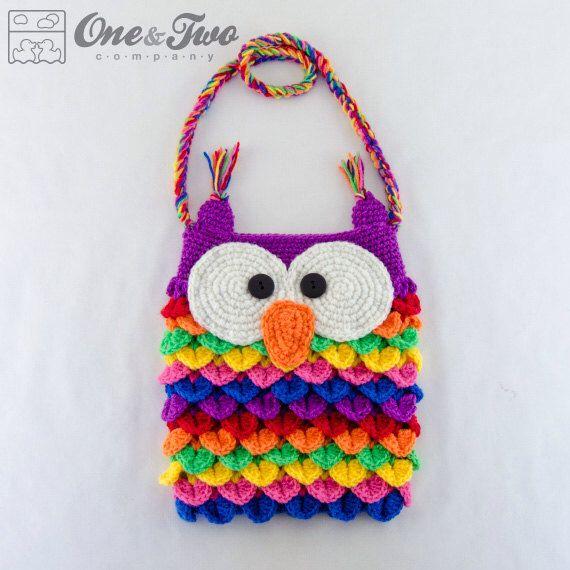 Colorful Owl Purse - PDF Crochet Pattern - Instant Download ...