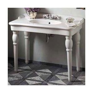 High Quality Porcher 30028WH Sonnet Console Bathroom Sink   White