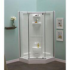 Sorrento 42 Inch Acrylic Frameless Neo Angle Shower Stall Neo