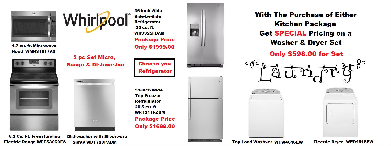 Kitchen Packages Discount Appliances Washer Dryer Set Complete