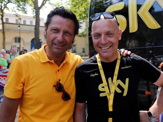 Fausto Pinarello and Sir Dave Brailsford