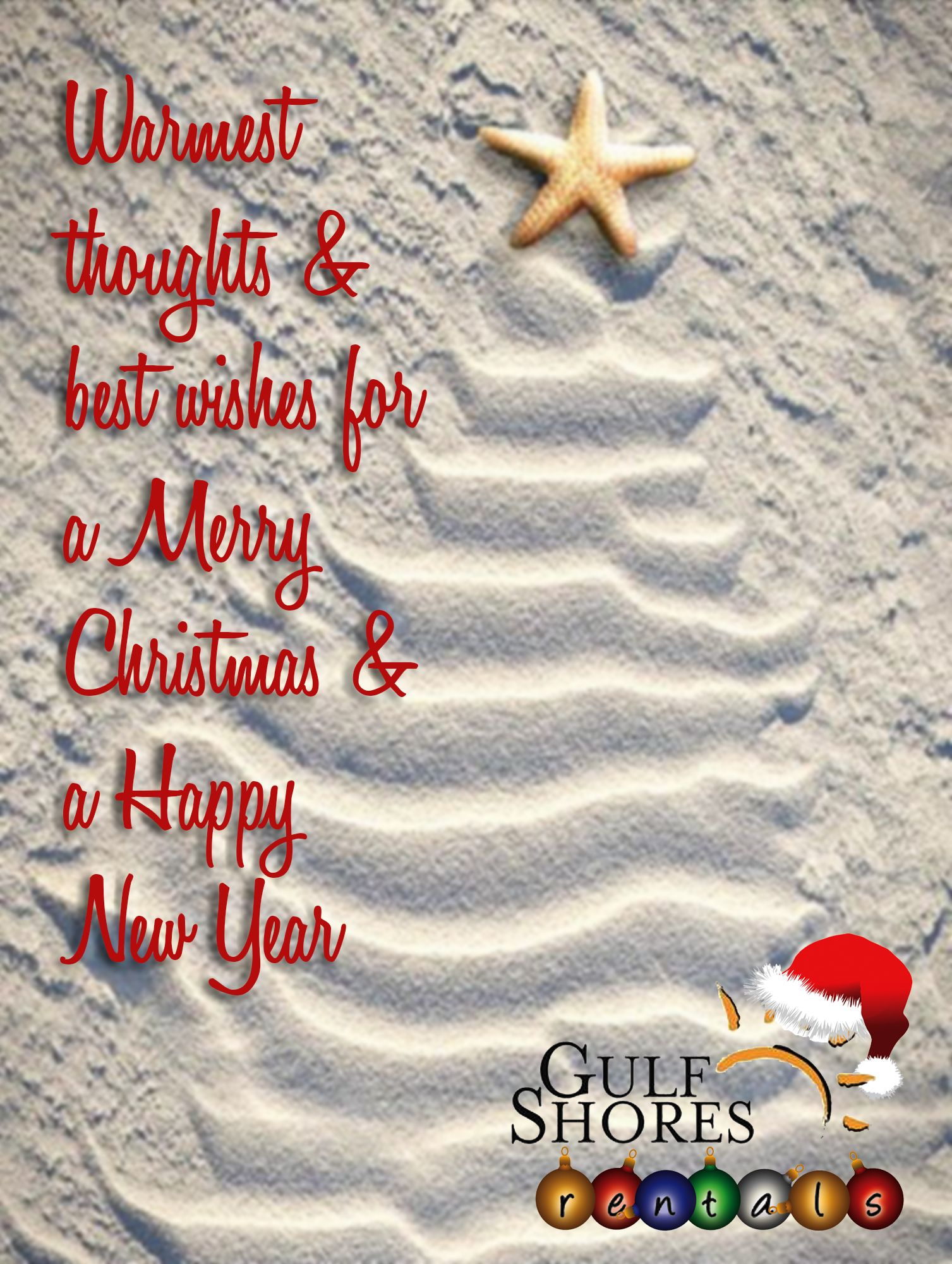 Merry Christmas from all of us at Gulf Shores Rentals!!