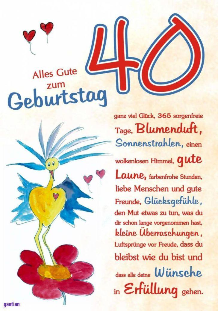 Spruche 40 Geburtstag Frau Kostenlosgluckwunsche Zum 40