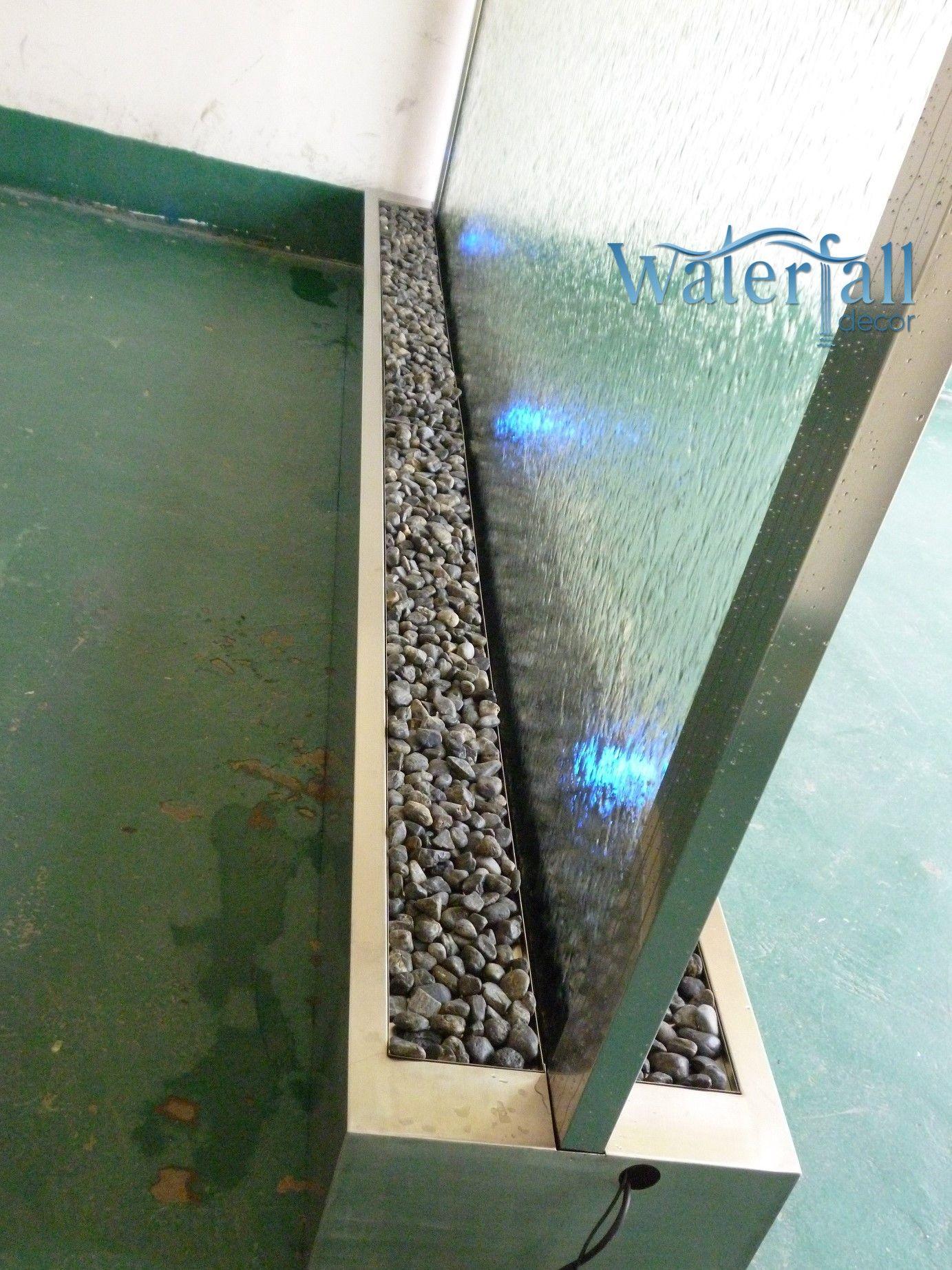 Brushed Stainless Indoor Floor Fountain 360cm X 200cm X 50 Cm