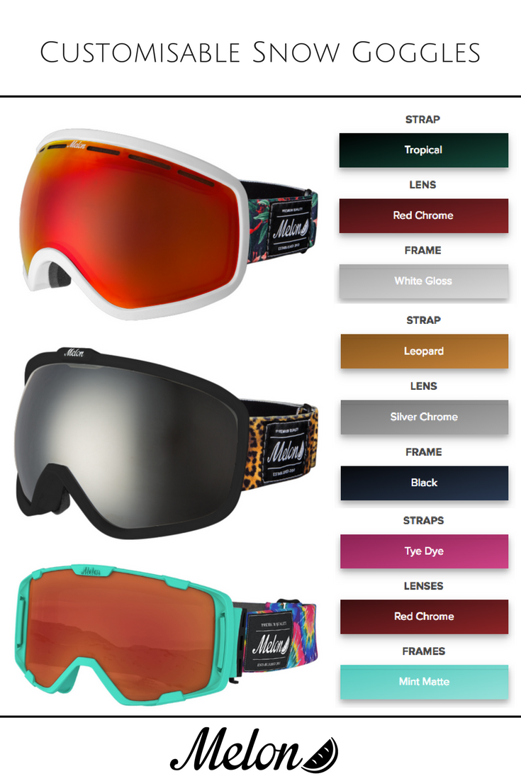 4c1762f1d3c9 3 different types of goggles - 1000s of possible combinations Stand out  from the crowd