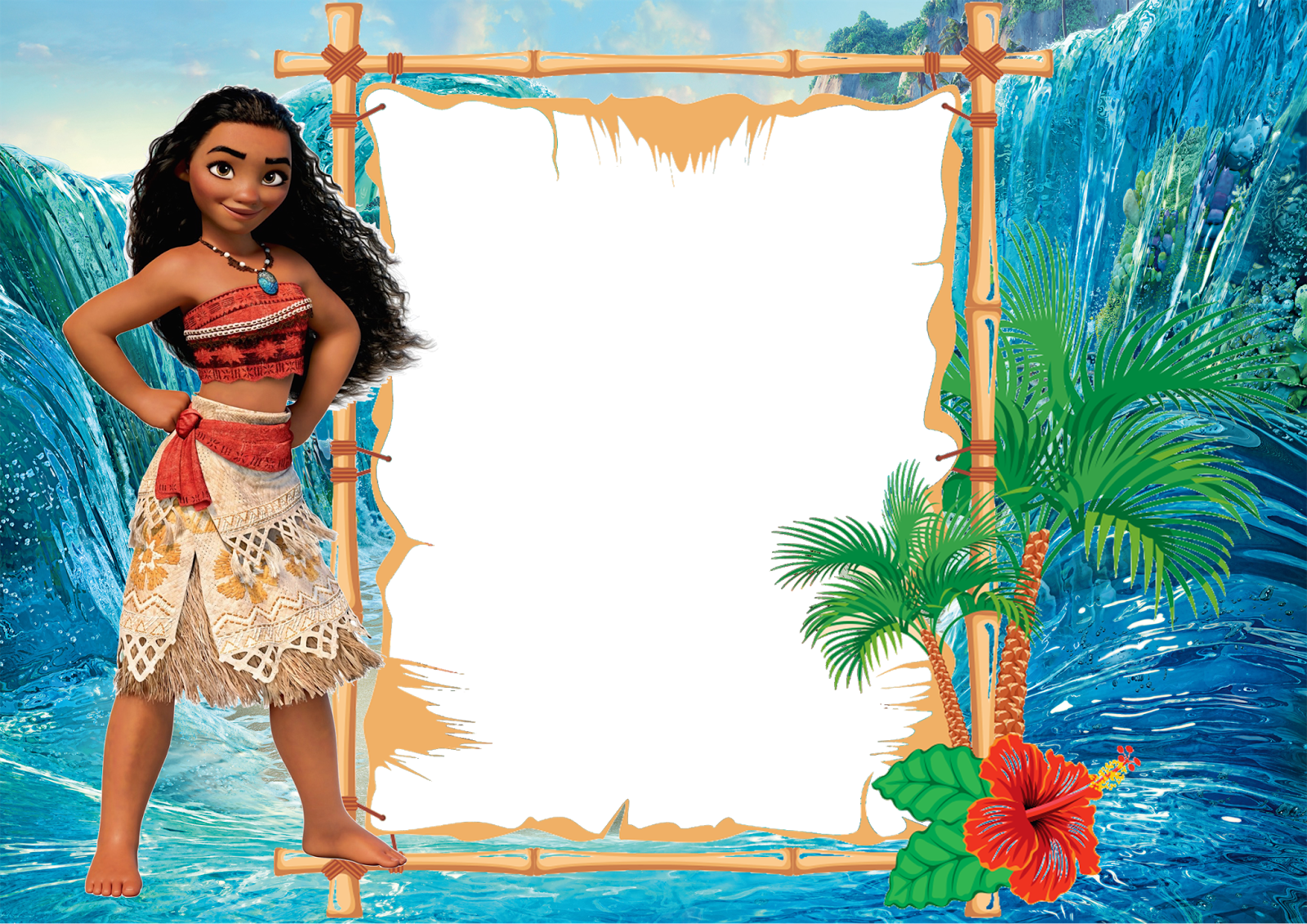 free moana birthday invitation template drevio invitations design