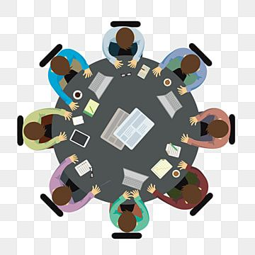 Minimalistic Flat Cartoon Business Round Table Meeting Vector Elements Simple Flat Cartoon Png And Vector With Transparent Background For Free Download In 2021 Cartoons Png Cartoon Geometric Background